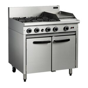 Cobra CR9C Commercial Oven Range with 4 Burner Cooktop and 300mm Griddle