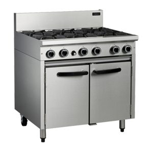 Cobra CR9D Commercial Oven Range with 6 Burner Cooktop